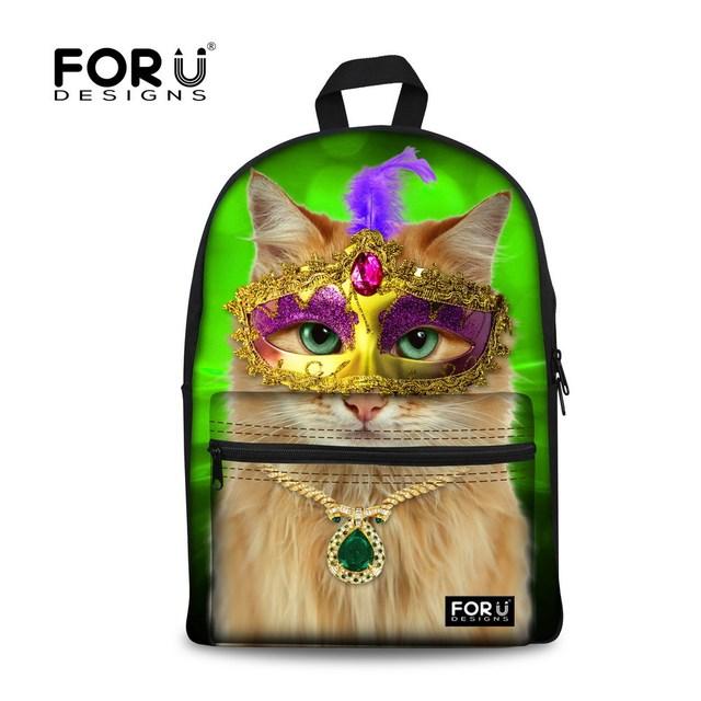 Lindo campus adolescente niñas 3d animal cat impresión mujeres mochila niños mochilas escolares para niños ocasional hombro bookbag mochila