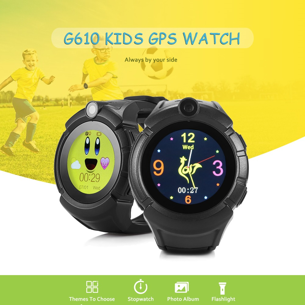G610 Kids GPRS Smart Watch Wristband Flashlight SOS Call GPS+LBS Positioning & Built-in Camera for Children