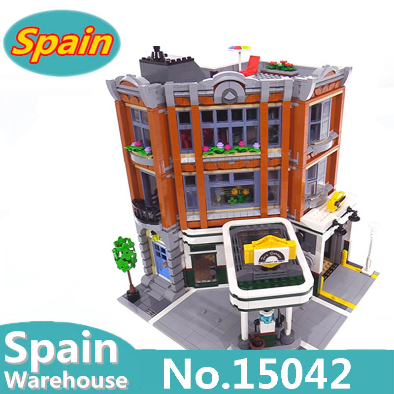15011 15042 Detective Office Corner Garage Grand Emporium Creator Expert City Architecture Building Blocks Set 10264