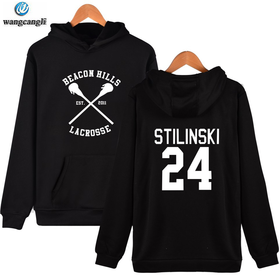 Wolf Stiles Teen Stilinski 24 Hoodie Dunbar McCall moletom Cap Sweatshirt plus size pullover mens Hoodies and Sweatshirts