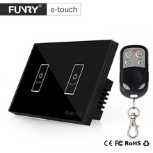 US Standard 2Gang Crystal Glass Panel Remote Control Touch Switch Surface Waterproof Luxury Panel LED Touch Switch lemaic wall switch touch switch sensor switch st1 2gang smart remote control luxury crystal glass panel surface 2 4g wifi smart