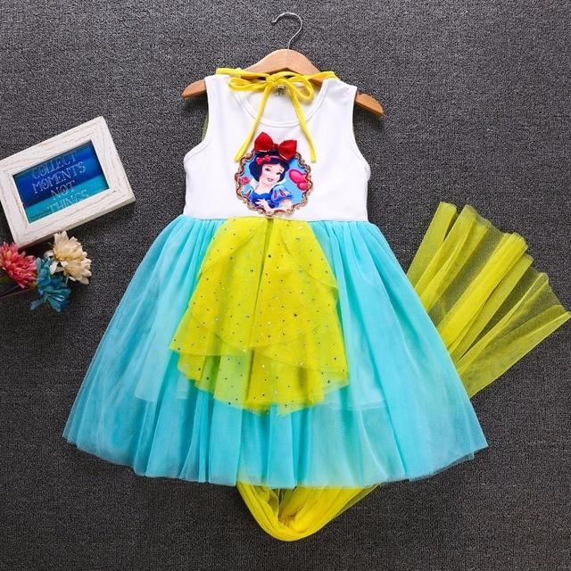 fa026b6ca334d Kids Baby Gifts Snow White Sophia Elsa Princess Dress For Girls Halloween  Christmas Carnvial Party Dress Anime Cosplay Costume