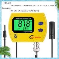 Medidor digital de ph da água  testador eletrônico portátil com luz de fundo