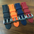 NEW 22mm 24mm 26mm black strap waterproof silicone rubber watchband strap for PAM ,With Original Logo,Free Shiping