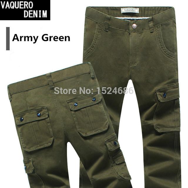 2015 de la alta calidad pantalones para hombre ropa Chinos pantalones militares del ejército delgado pantalones de carga pantalones pantalones 2 colores Size30-36 786