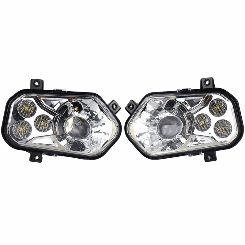 2pair ATV Accessories UTV LED Headlight kit Lamp for Polaris Razor 1000 2014-2016 RZR XP 4 1000 2016 RZR XP 4 TURBO voltage regulator rectifier for polaris rzr xp 900 le efi 4013904 atv utv motorcycle styling