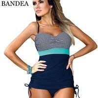 BANDEA One Piece Swimsuit Of Large Size Bathing Suit Women Push Up Swimwear Plus Size Monokini