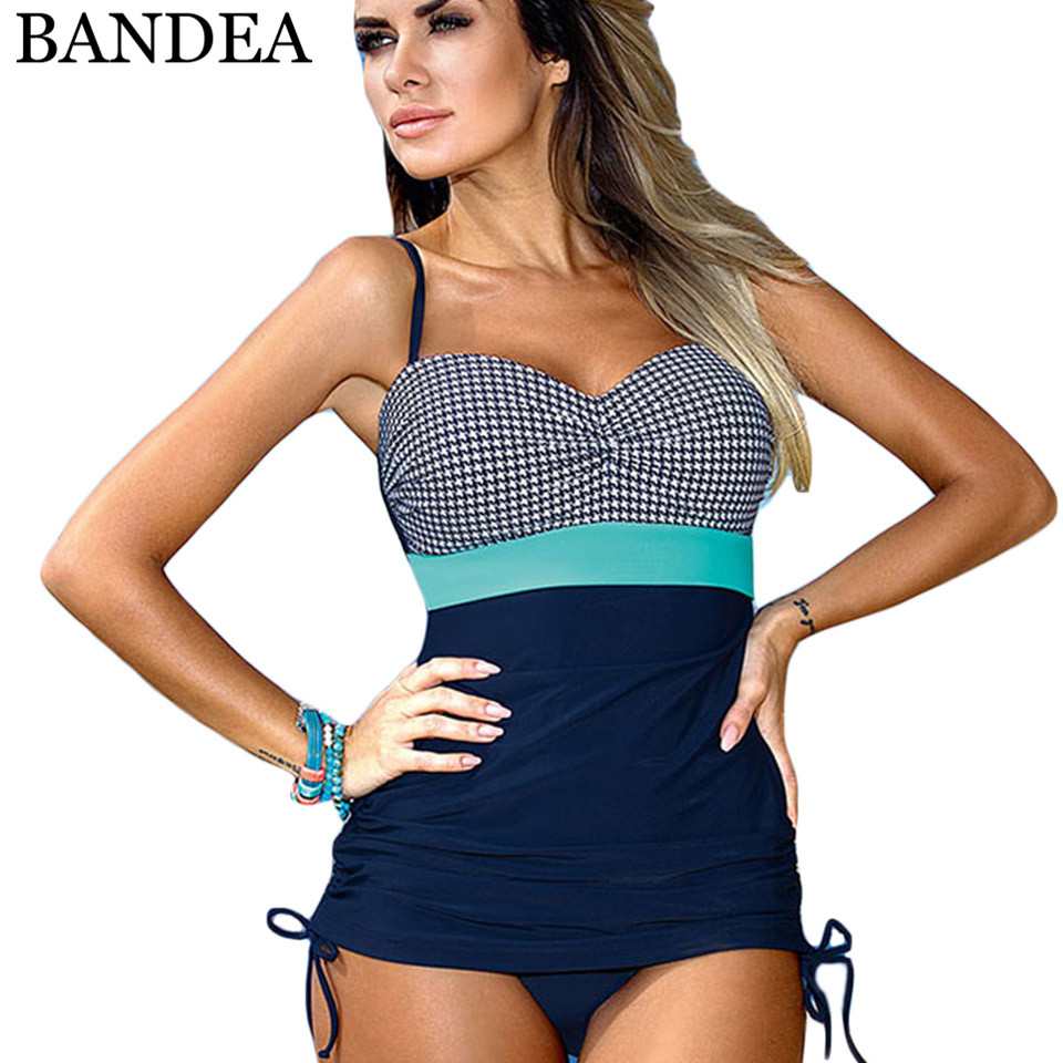 BANDEA One Piece Swimsuit of large size bathing suit women push up swimwear plus size monokini multicolor beach swimming suit 2017 plus size swimwear women swimming dress sexy large one piece swimsuit push up beach dress patchwork bathing suit