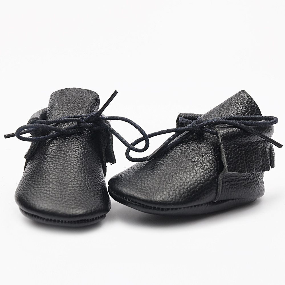 High Quality New solid Genuine Leather Baby Moccasins ...