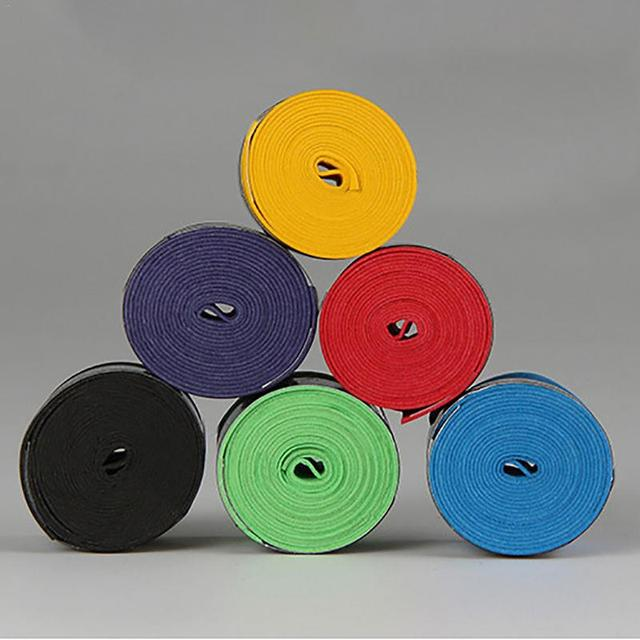Outdoor Sports Badminton Sweat Belt Tennis Racket Band Towel Hand Glue Take-up Strap Handshake Handle Multi Color Random 1