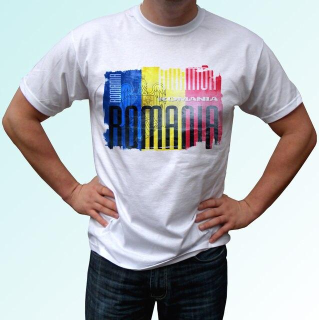 cheap for discount 30c30 c6213 Rumänien flagge design weiß t shirt top moderne herren frauen kinder baby  größen Harajuku Mode Klassische Einzigartige freies verschiffen