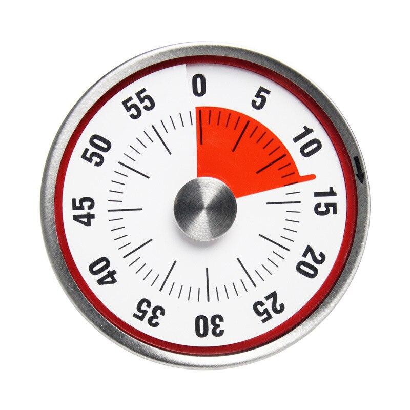 Küche Timer Magnetische Mechanische Kochen Alarm Zähler Uhr Stahl Manuelle Countdown Backen Erinnerung LBShipping