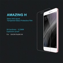 Nillkin Toughness Protective Screen Film For Xiaomi For Redmi 4A Ultra-thin 0.3mm Easy Paste Film Tempered Toughened Glass 9H