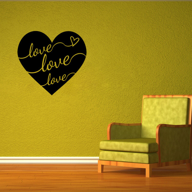 Online Shop Creative Love Heart Wall Art Decal Sticker lettering ...
