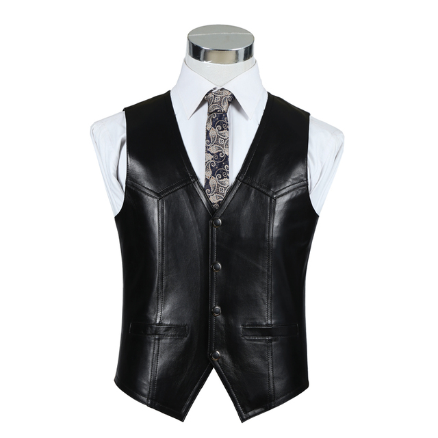 The new 2016 autumn/winter leather sheepskin vest for men The first layer of sheep leather vest