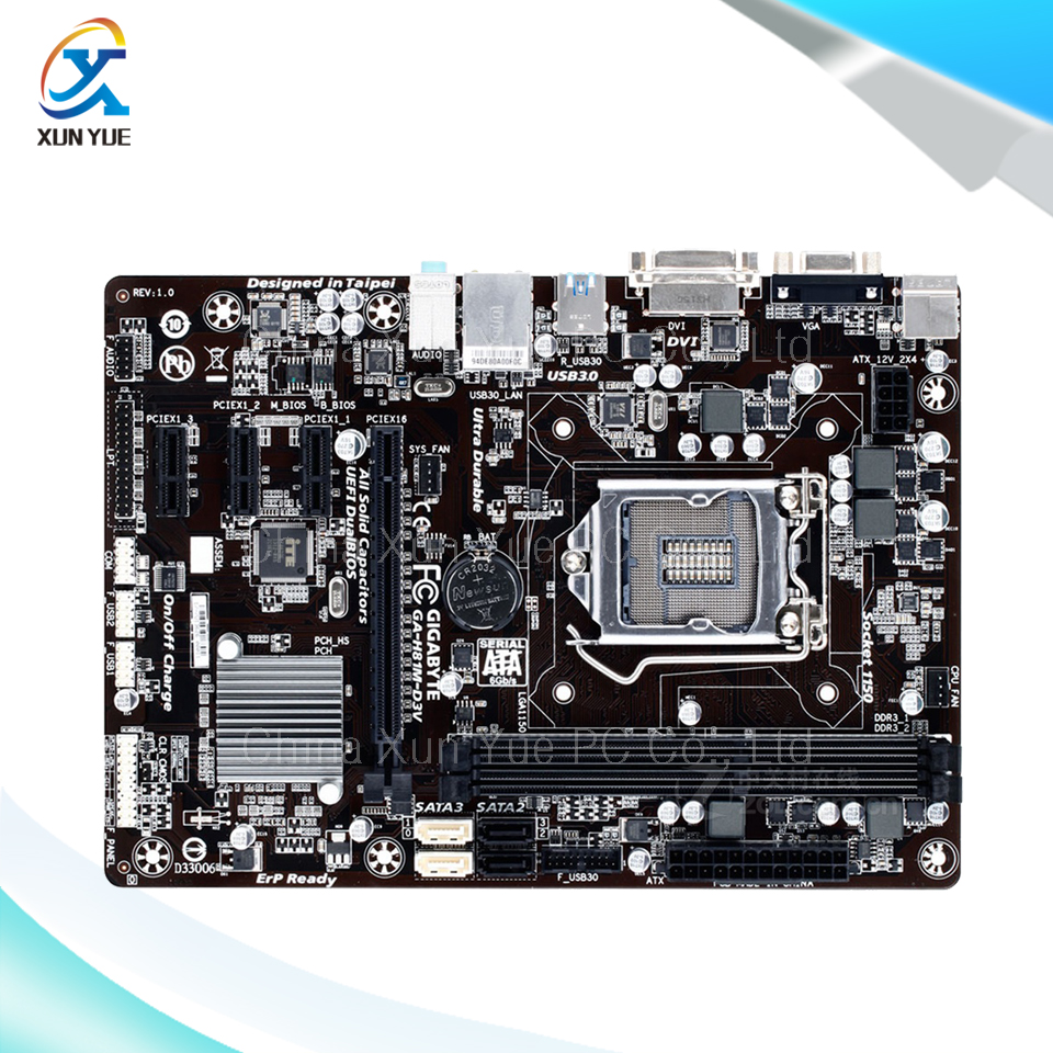 For Gigabyte GA H81M D3V Original Used Desktop font b Motherboard b font H81M D3V For