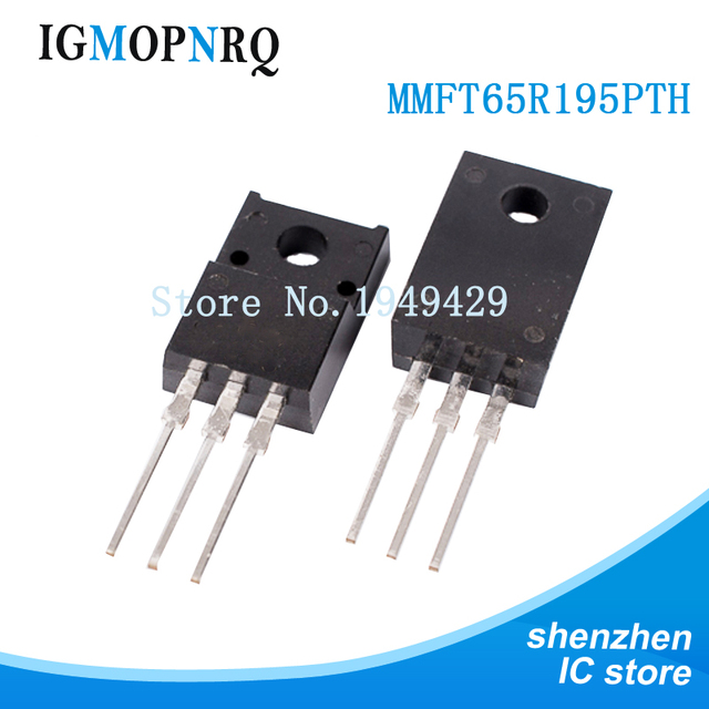 Livraison gratuite 10 pièces T65R195P MMFT65R195PTH transistor à effet de champ directement inséré dans le circuit intégré TO 220F