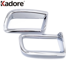 Car Styling ABS Chrome Exterior Rear Fog Light Cover Trims Auto Accessories 2Pcs For Toyota Prado FJ150 FJ 150 2010 2011 2012