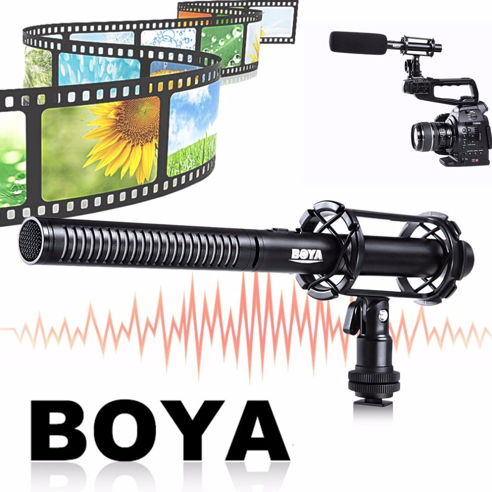 BOYA BY-PVM1000 Professional DSLR Condenser Video Interview Reporting Microphone For Canon For Nikon For Sony Cameras