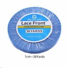 1cmx 36 Yards longue durée étanche à leau Super qualité bleu Extension de cheveux bande de cheveux