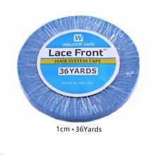 1cmx 36 iarde nastro per capelli blu di alta qualità a prova di acqua a lunga durata