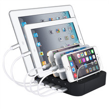 USB charger station 5 port 5V 2.4A multi port charging for iphone apple sumsung xiaomi mobile phone cellular
