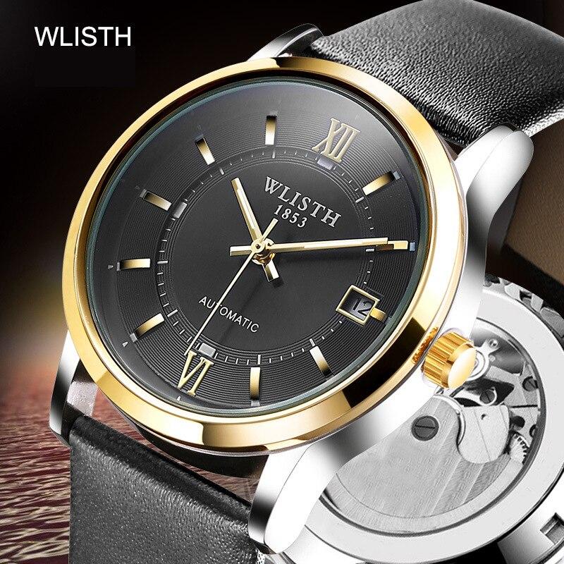 Montre homme acier inoxydable squelette Date homme Tourbillon montre hommes montres Top marque luxe automatique montres mécaniques