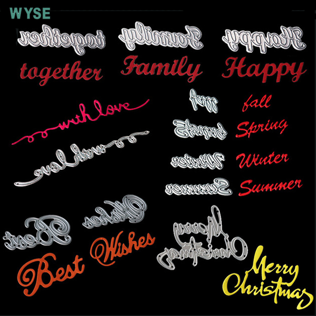 english letter metal cutting die happy birthday die cuts love best wishes four seasons dies