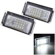 Auto License Plate Light 12V SMD 3528 White Light 18 LEDs License Plate Lamp for BMW MINI COOPER S R50 R52 R53 2001 – 2006 2pcs