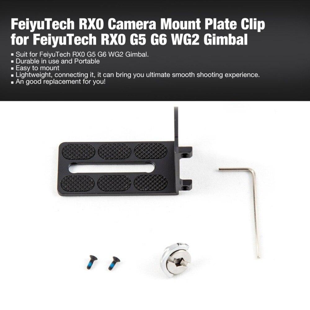 FeiyuTech RX0 Camera Mount Plate Clip For Feiyu Technology RX0 G5 G6 WG2 Handheld Smartphone Handheld Gimbal Stabilizer
