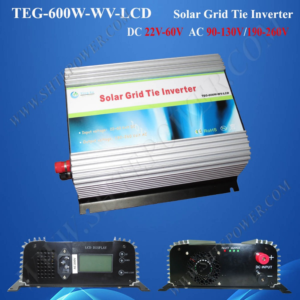 600 watts tie grid solar inverter dc 24v 36v 48v to ac 120v/230v solar inverter with mppt grid tie solar inverter 250watts 250w new inverter dc 22 60 input to ac output with mppt function
