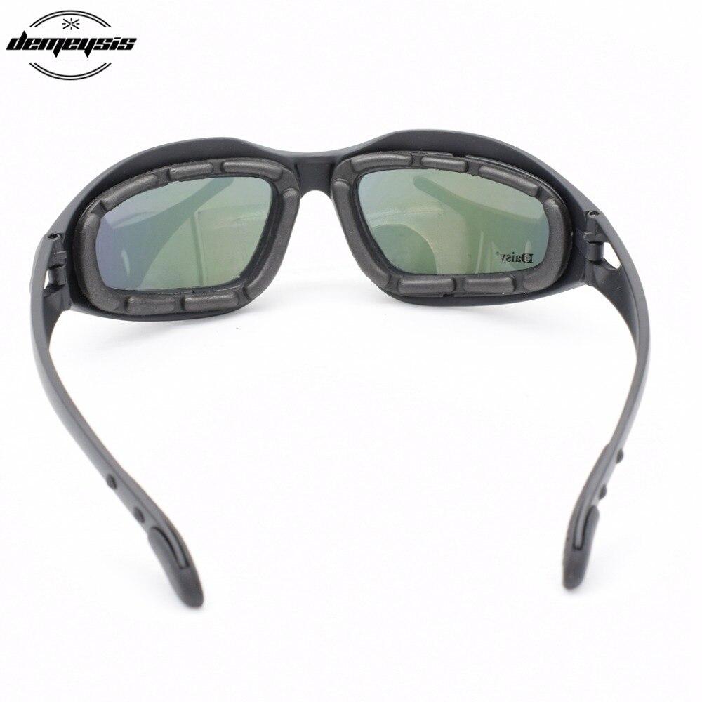 Army Goggles Solbriller Mænd Militære Solbriller 4 Lins Kit For - Cykling - Foto 4