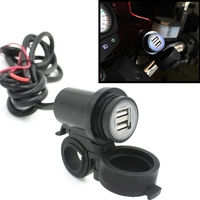 WUPP Waterproof Dust Proof 5V Adaptateur USB Vehicle 2 1A DC 12V Moto Double USB Charger