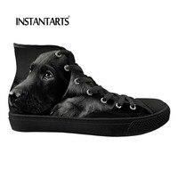 INSTANTARTS модные Лабрадор печати мужской спортивная обувь Классические высокие для мужчин Вулканизированная обувь Человек удобные дышащи