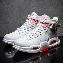 Men Sneakers high top Running Shoes for Men Black/ white