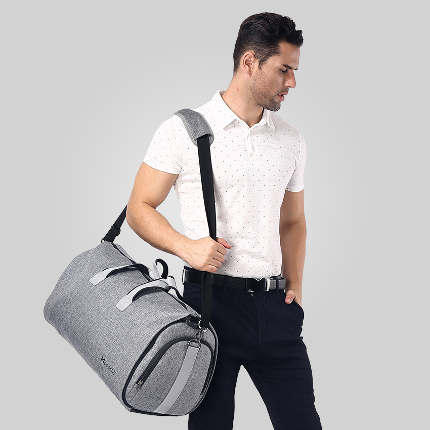 Modoker New Travel Bag Shoulder Strap Duffel Bag Business Fashion Carry on Hanging Clothing Multiple Pockets