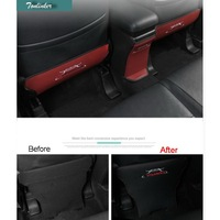 3 Pcs DIY Car Styling New Leather The Rear Seat Kick Pad Cover Case For 2013