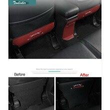 Tonlinker 3 Unids Estilo Coche DIY Nuevo Cuero Del Asiento Trasero Kick Pad Caso de la Cubierta de pegatinas para Mitsubishi Outlander 2013-17
