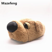 Mazefeng Slippers Winter Home Funny Slippers Christmas Gift 2017 Men Women Cotton Cute Dog Women Slippers