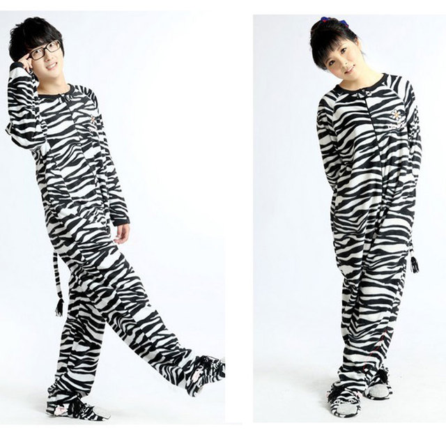 Adults Winter Cute Adults Footed Pyjamas For Women Animal Zebra Onesie  Pajamas Hot Selling Online 615ba8fa3
