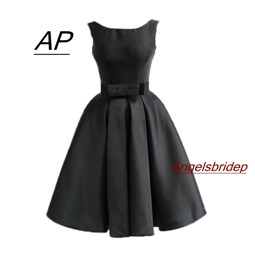 ANGELSBRIDEP Scoop Mini Homecoming Dress Satin Dress 2019 Sash Special  Occasion Cute 8th Grade Graduation Dresses cdc70f1ede55