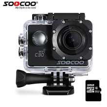 SOOCOO C30 Action 4K Sports Camera & 32GB SDcard NTK96660 Waterproof Wifi Gyro 70-170 Degrees Adjustable Action Cam