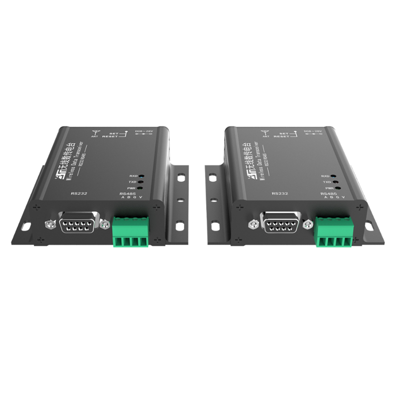 2 Pcs Modbus 433mhz Rf Transceiver Module Wireless Transmitter And Receiver Rs485 To Rs232 Communication Data Converter