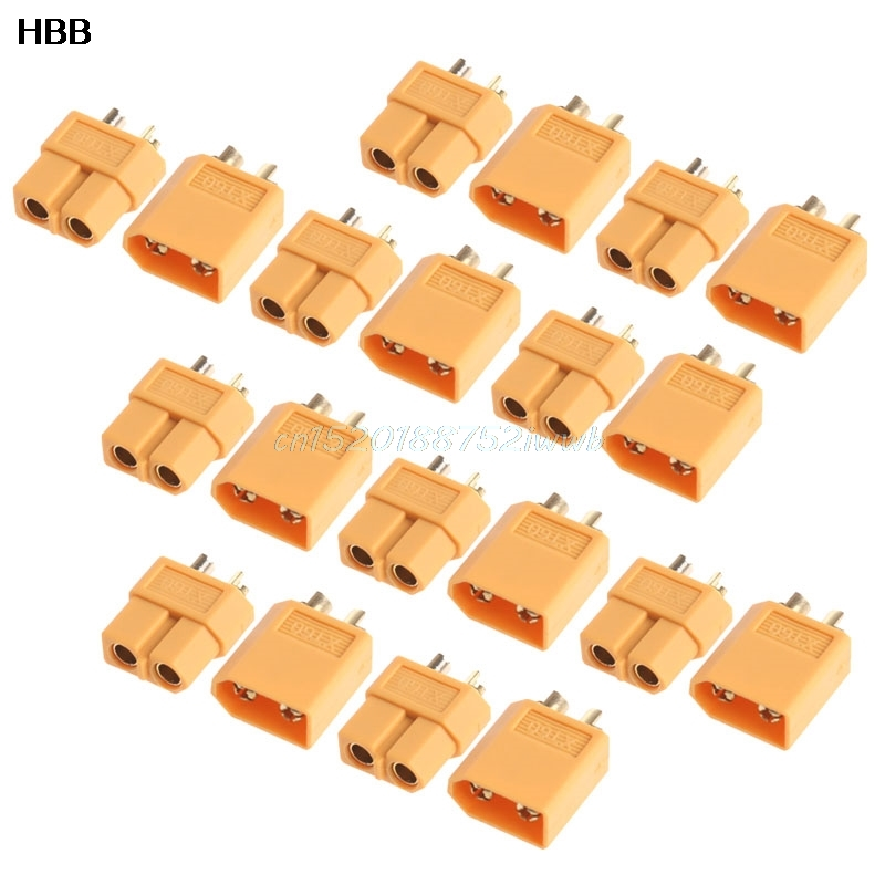 10Pairs XT60 Male Female Plugs Bullet Connectors for RC Lipo Battery New Hot T026