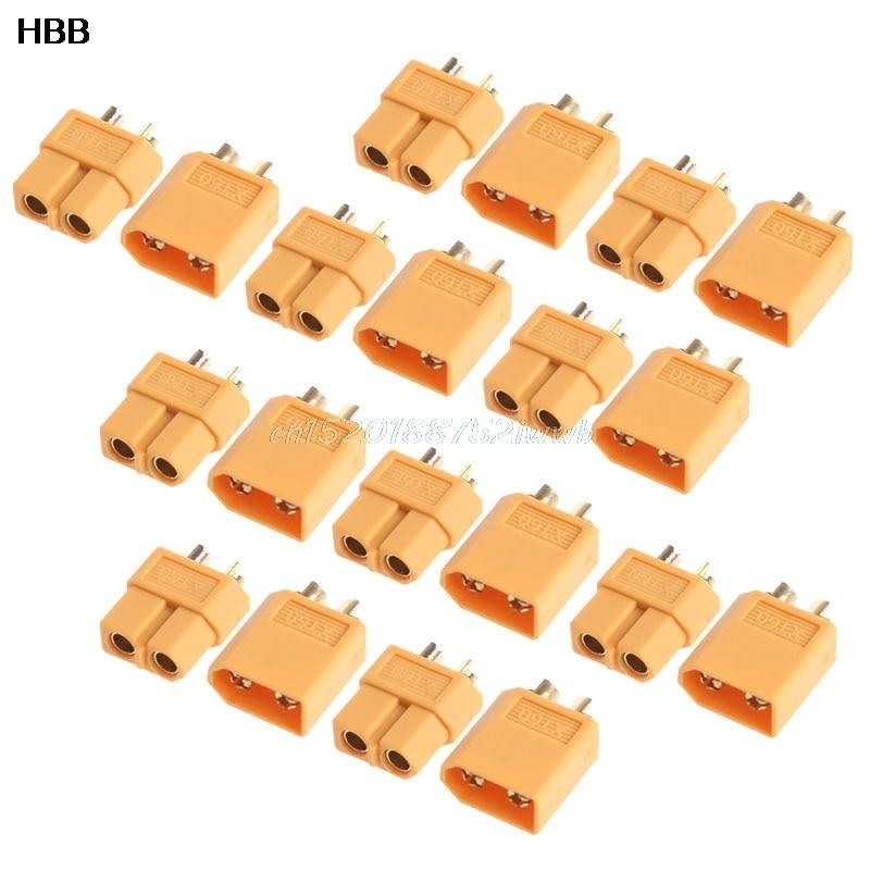 10Pairs XT60 Male Female Plugs Bullet Connectors for RC Lipo Battery New Hot #T026# ec2 connecteur banane male a xt60 plug adaptateur femelle pour rc lipo batterie t026