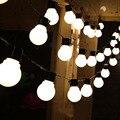 5 M 20 unids 5 CM Gran Bola Led Cadena Luz de Hadas de Navidad Guirnalda AC220V 110 V Blanco Cálido Multicolor Luz de La Decoración Al Aire Libre