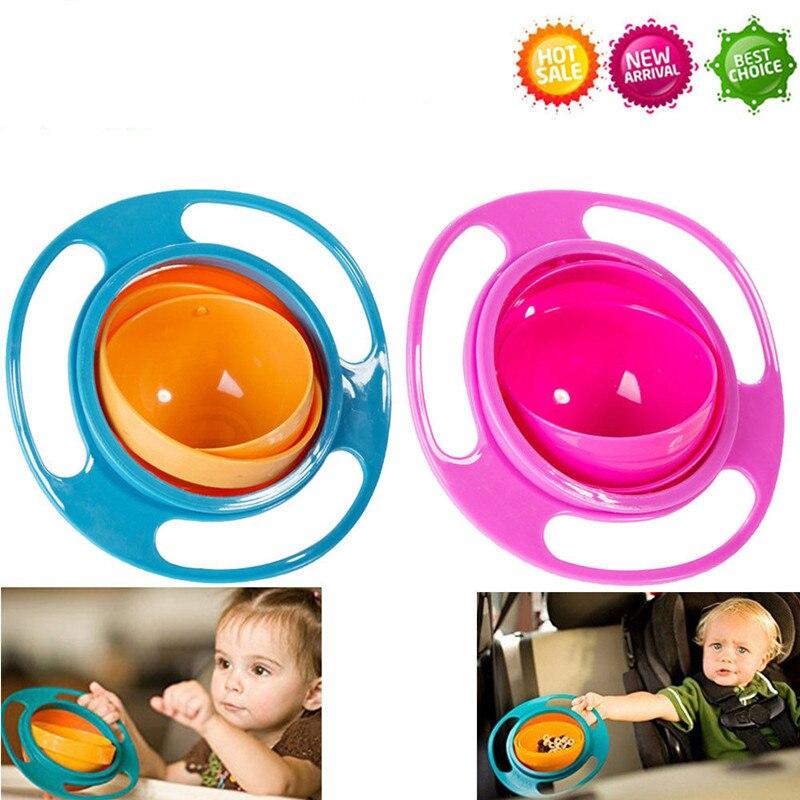Magic Gyro tazón 360 girar a prueba de derrames niño bebés niños alimentación entrenamiento tazón ningunas tazón bebé niños de Seguridad