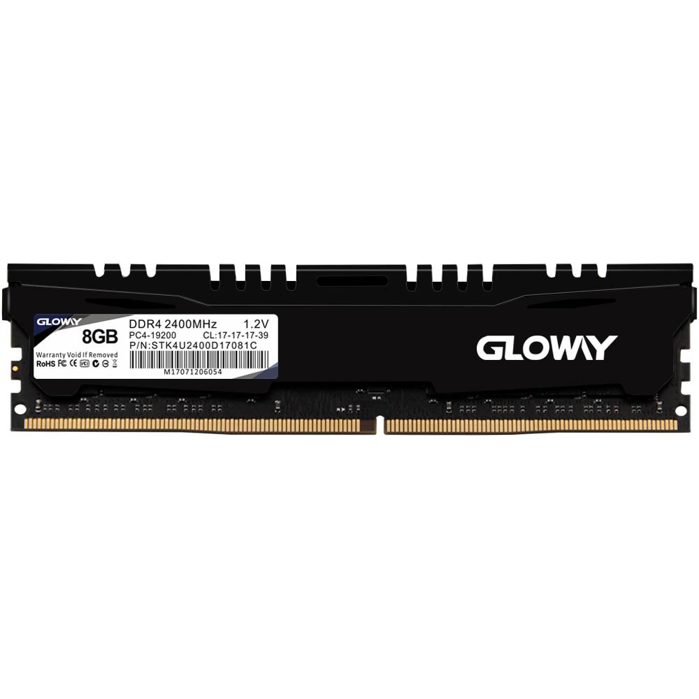 Gloway  Memory Ram Ddr4 8GB 16GB 2400MHz 1.2V 2 For Desktop  DIMM  Ram With High Quality  Lifetime Warranty