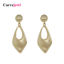 Carvejewl unique dangle earrings for women jewelry girl gift round post earrings new big fashion simple earing hot sale earring цена и фото