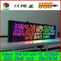 26X8 дюймов P5 закрытый полноцветный СВЕТОДИОДНЫЙ дисплей прокрутка текста Красный зеленый синий белый желтый и синий оранжевый СВЕТОДИОД открытым знаком billboard